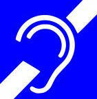 """Тактильный пластиковый знак """"Для инвалидов по слуху"""""""